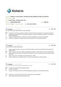ECONOMIA DO MEIO AMBIENTE E FINANC AV2