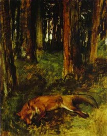 Edgar Degas - Dead fox lying in the Undergrowth
