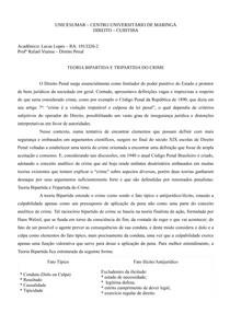 TEORIAS BI E TRIPARTIDA DO CRIME