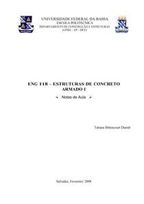 Estruturas de Concreto Armado I -Apostila de UFBA