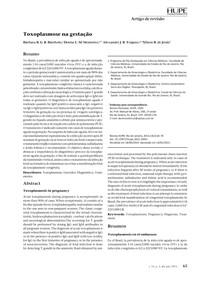 Toxoplasmose na gestação 2015