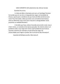 CASO CONCRETO 13 fundamentos das Ciências Sociais