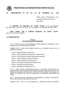 Lei de Uso e Ocupação do Solo (Porto Velho)