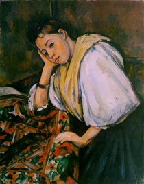 Paul Paul Cézanne - Young Italian Girl Resting on Her Elbow