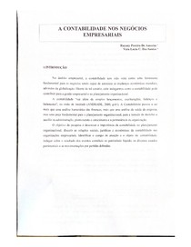 A CONTABILIDADE NOS NEGÓCIOS (PAPER )
