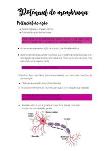 Potencial de membrana resumo 1