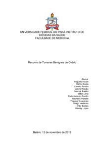 Trabalho de Ginecologia - Tumores Benignos de Ovário