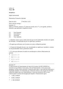 Apol 02   Matemática Financeira e Inglês Instrumental