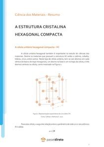 A estrutura cristalina hexagonal compacta - Resumo