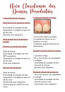 Nova Classificação das doenças periodontais - Periodontia