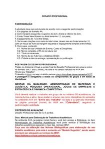 Modelo  Desafio Profissional  ADM  7º e 8º
