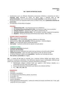 URO | NEFRO - Nefrite intersticial aguda