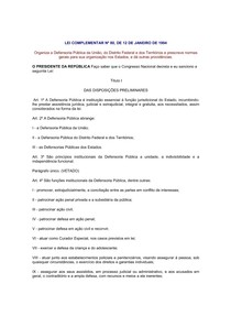 Lei Complementar Federal N 080 de 12 de janeiro de 1994
