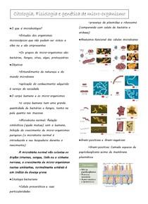 Citologia, fisiologia e genética de micro-organismo