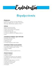 Biopulpectomia - Endodontia