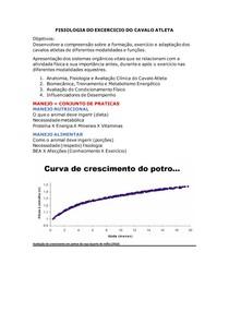FISIOLOGIA DO EXCERCICIO DO CAVALO ATLETA