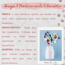 Droga X medicamento X remédio