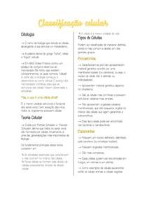 Classificação Celular