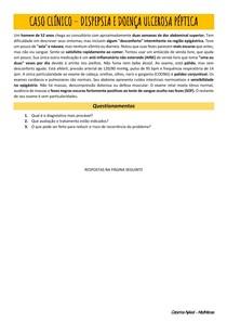 Caso clínico -  Doença ulcerosa péptica