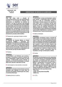 ADMINISTRAÇÃO DE SERVIÇOS DE ALIMENTAÇÃO - 1