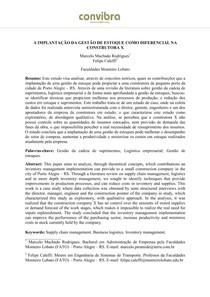 A IMPLANTAÇÃO DA GESTÃO DE ESTOQUE COMO DIFERENCIAL NA CONSTRUTORA X