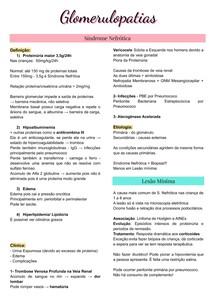 Síndrome Nefrotica - Nefropatia Diabetica - Glomerulopatia nas desordes Sistemicas - Nefrologia - Glomerulopatias