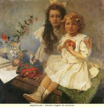 Alphonse Mucha - Jaroslava e Jiri - Children.jpg do Artista
