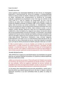 CASOS CONCRETOS PROCESSO TRABALHO II