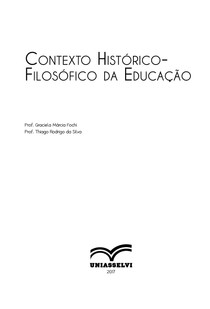 Contexto Histórico Filosófico da Educação