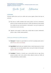 Antinomias - Direito Civil