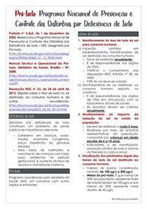 PRÓ-IODO: PROGRAMA NACIONAL DE PREVENÇÃO E CONTROLE DOS DISTÚRBIOS POR DEFICIÊNCIA DE IODO