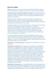 Reforma Catalítica questionário