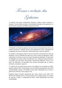 Forma e evolução das Galáxias