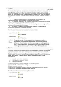 atividade 2- GRA1120 GESTÃO FINANCEIRA E ORÇAMENTÁRIA CICN201JB1 - 202010 ead-5277 0