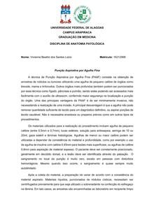 Perfuração por Agulha Fina (PAAF) - Patologia