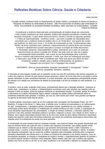 Reflexoes sobre ética - Volnei Garrafa