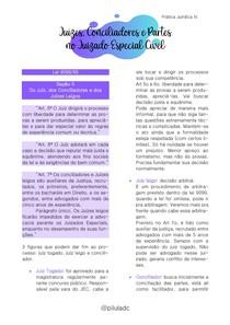 Prática Jurídica IV - Juízes, Conciliadores e Partes no Juizado Especial Cível