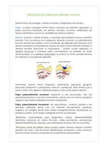 PROTEÇÃO DO COMPLEXO DENTINO PULPAR - resumo dentística