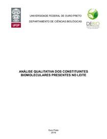RELATÓRIO DE BIOQUÍMICA (TESTES COLORIMÉTRICOS PARA IDENTIFICAÇÃO DE BIOMOLÉCULAS)