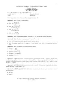 345729 2a Prova Cálculo I   Eng. Mecânica