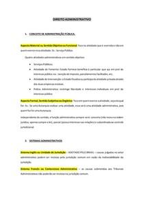PEQUENO RESUMO - DIREITO ADMINISTRATIVO (conceito, sistemas, princípios, atos, etc.)