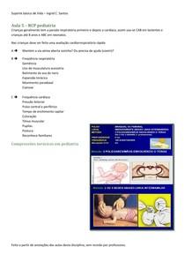 Aula 5 – RCP pediatria