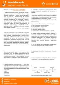 Módulo 1 - aula 25 e 26 - Fermentação e Quimiossíntese