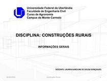 AULA 01   INFORMAÇÕES GERAIS CONSTRUÇÕES RURAIS
