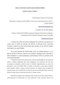 EDUCAÇÃO FÍSICA ESCOLAR NO ENSINO MÉDIO