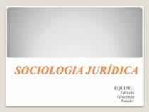 SOCIOLOGIA JURÍDICA   Slid