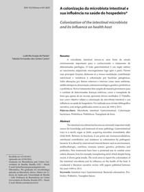 A colonização da microbiota intestinal e sua influlência na saúde do hospedeiro