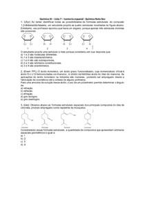 Química III - Lista 07