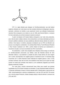 Os CFCs (clorofluorcabonetos)