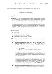 Petição inicial - Direito Processual do Trabalho I - 2020 1